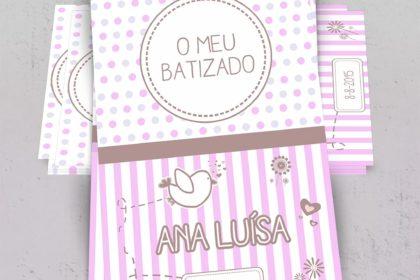 Convites batizado Ana Luísa